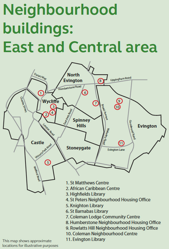 Leicester City Uk Map.Changing Neighbourhood Services In The East And Central Areas Tns